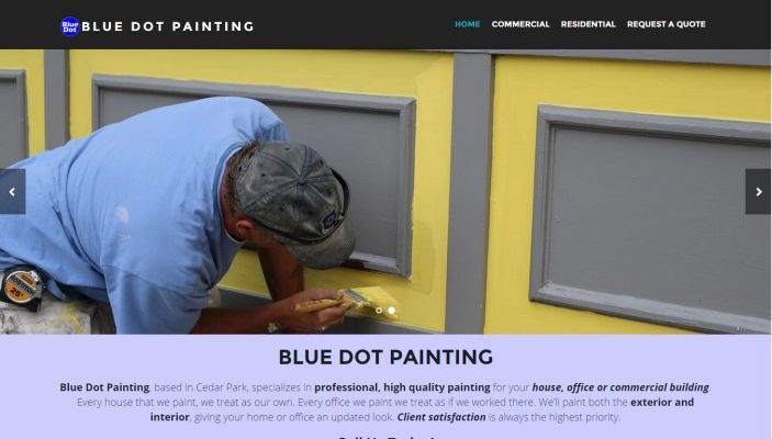 Blue Dot Painting
